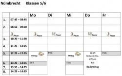 Stundenplanvorlagen56N