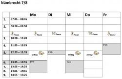 Stundenplanvorlagen78N