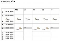 Stundenplanvorlagen910N