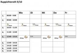 Stundenplanvorlagen910R